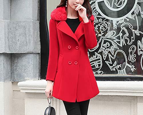 Chaude Et Pour vent Hiver Laine De Coupe En Manteau Femme Femme Veste Coton D'hiver Longue Femmes Automne Ab Plus Rouge D'automne qwzIx1aq8