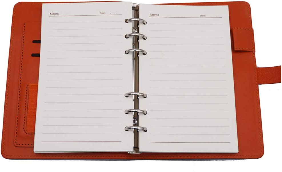 Braun, A5 Ringbuch Reise Tagebuch mit Magnet-Verschluss Stifthalter Steckpl/ätze f/ür Karten und 160 Seiten TSY Notizbuch Nachf/üllbar PU Leder Weiche Abdeckun Personal Organizer Planer