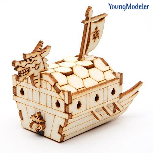 (Desktop Wooden Model Kit Kids Turtle Ship / YG821 )