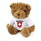 NEW - Switzerland Flag Teddy Bear - Swiss Fan Gift Present Schweiz