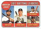 : 2018 Topps Heritage #1 Jose Altuve/Eric Hosmer/Hanley Ramirez/Avisail Garcia Houston Astros/Kansas City Royals/Boston Red Sox/Chicago White Sox Baseball Card