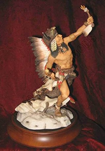 Spirit of the Sioux 1987 Franklin Mint Porcelain Native American Figurine (Mint Figurine Porcelain)