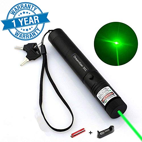Dreamlizer Tactical Green Hunting Rifle Scope Sight Laser Pen, Demo Remote Pen Pointer Projector Travel Outdoor Flashlight, LED Interactive Baton Funny Laser ()