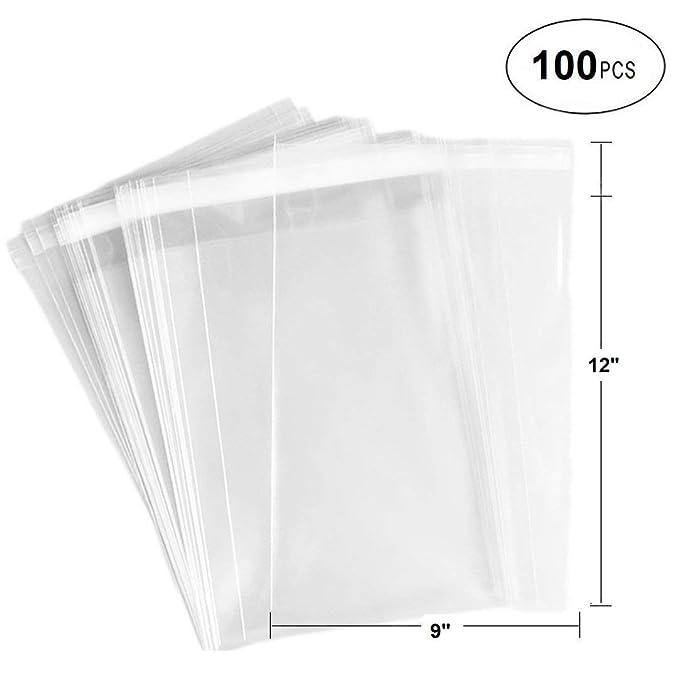 Amazon.com: 100 bolsas de celofán transparente con cierre ...