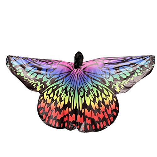 VESNIBA 2018 Kids Baby Girl Belly Dancing Costume Butterfly Wings Dance Accessories No Sticks by (Multicolor, (Dance Costumes Accessories Girls)