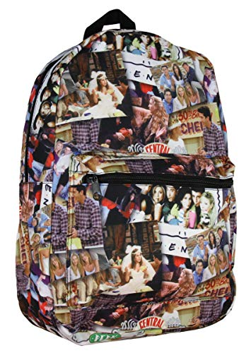 Friends TV Show Scenes All Over Collage Sublimated Print Backpack School Bag