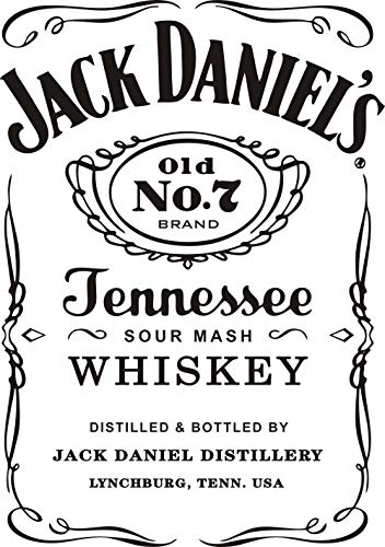 Wall Decal Jack Daniels JD Wall Decor Sticker Removable Jeness Whiskey Carving Quotes Wall Mural Living Room Kitchen Interior Deoration Stickers Y013 (Black, 57x80cm)
