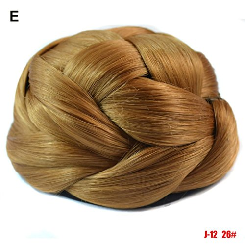 Amazon.com: Huphoon Wig Hair Pieces Women Updo Braided Ponytail Hair Extensions Wigs Drawstring 6 Colors (C): Office Products
