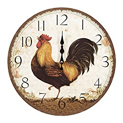 Yosemite Home Decor Circular Wooden Wall Clock, Multi