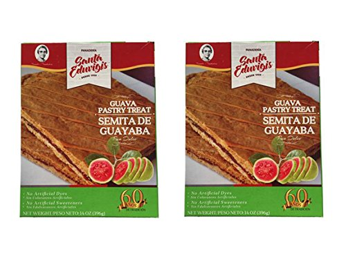 SANTA EDUVIGIS Pan Dulce Semita Salvadoreña (Semita de Guava, 2 Pack)