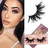 Googoo 3D Mink Eyelashes 100% Siberian Mink Fur False Eyelashes Natural Layered Effect Hand Made Strips Eyelashes Reusable Make Up Real Fake Eyelashes 1 Pair
