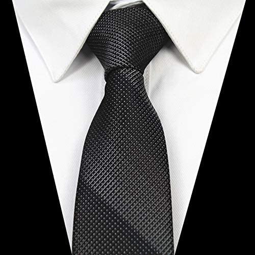 ZXCVBN Slim Tie 6cm Skinny Silk Jacquard Woven Neckties for Men Wedding Party Groom