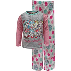 Shopkins Girls' Little 2-Piece Pajama Set