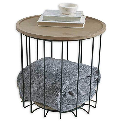 Weybridge Storage Side Table in Greige, 18.31