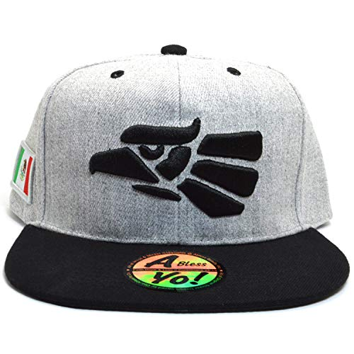 AblessYo Hecho En Mexico Baseball Cap Eagle Mexican Aguila Snapback Flat Hat  AYO6040 (Grey  0faf17520d8