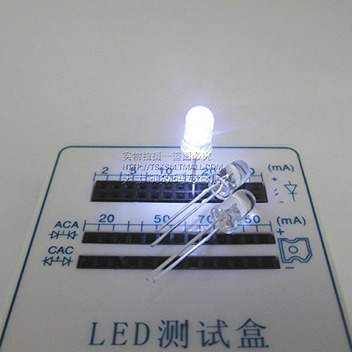 GUWANJI LED Light Emitting Diode 3 mm Double Round highlight Color Hair white red Green transpa Rent total unids Yin 1