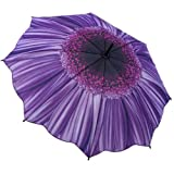 GALLERIA ENTERPRISES, INC. Purple Daisy Folding Umbrella