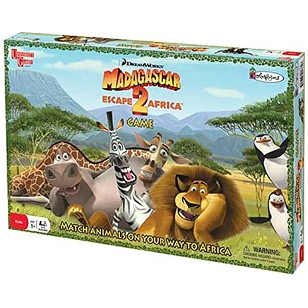 Amazon Com University Games Madagascar Escape 2 Africa Board Game Toys Games