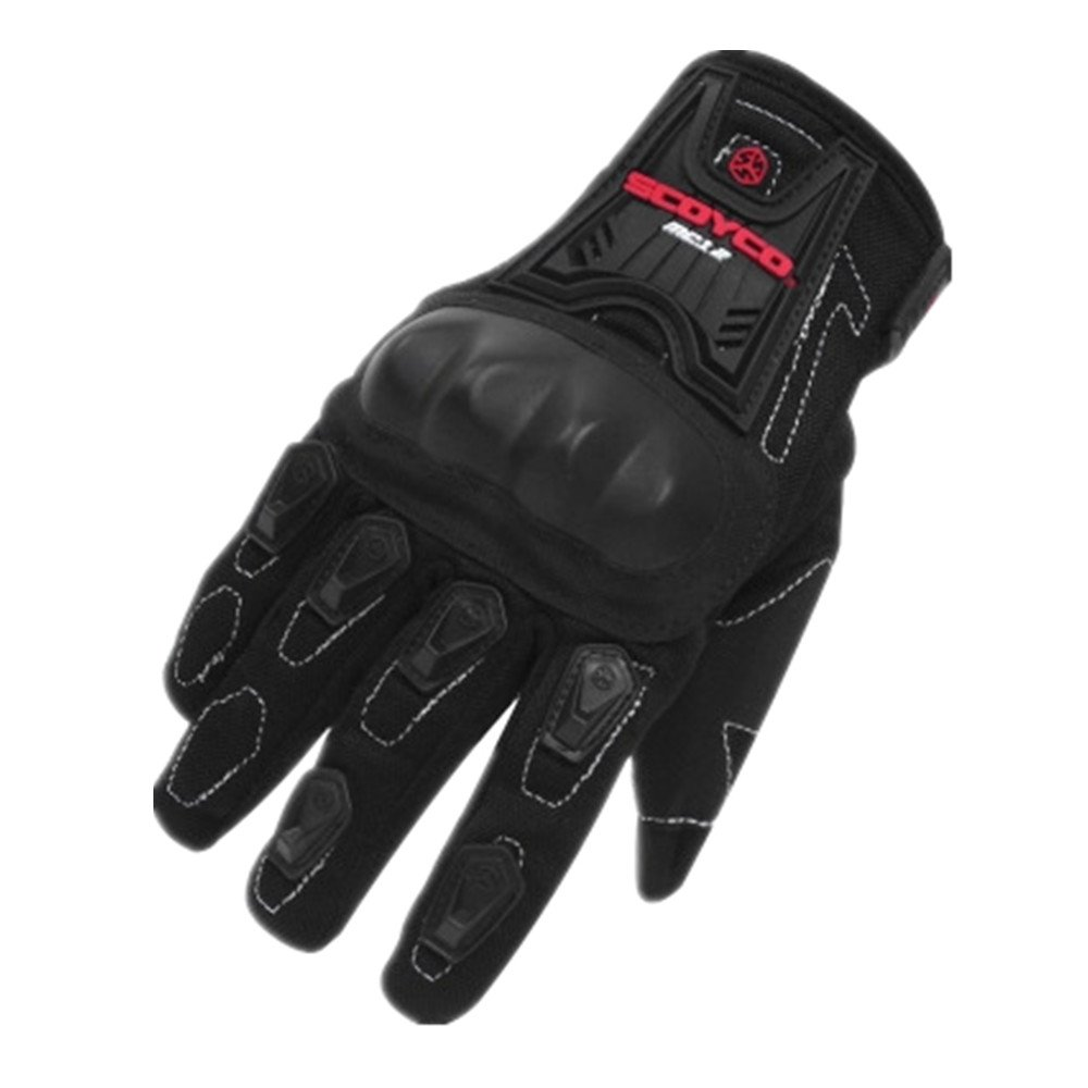 QARYYQ Outdoor-Motorradhandschuhe Breathable Racing-Motorrad-Radhandschuhe, Schwarz Handschuh (größe   M)