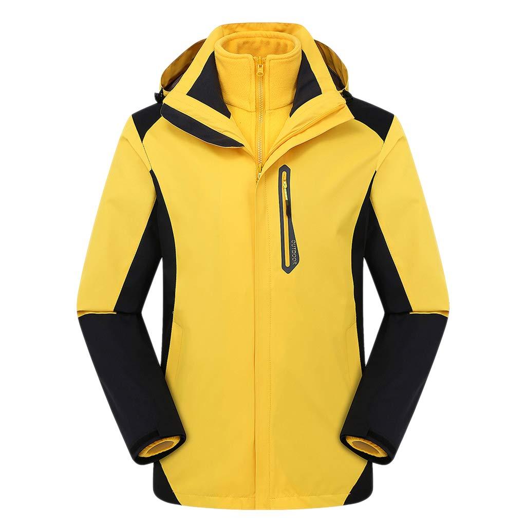 CFYTH Unisex Ski Jacke mit Kapuze wasserdicht im Freien Regenmantel Radfahren Softshell Mantel Mode Winddicht Jacken Wandern Mountain Windbreaker