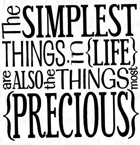 Waldenn The Simple Things Vinyl Wall Art Decal Wall Lettering Quote Words Home Decor | Model DCR - - Inlay Decal Lettering