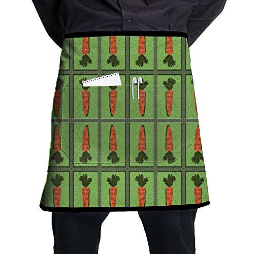 Kjiurhfyheuij Half Short Aprons Carrot Mirror Waist Apron with Pockets Kitchen Restaurant for Women Men Server by Kjiurhfyheuij
