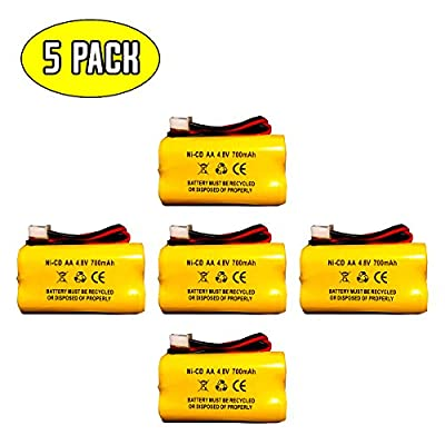 4.8v 700MAH Battery for Exit Sign Emergency Light BL93NC487 BL93NC484 BL93NC485 4.8v 500mah 4.8v 800mah NiCd NiCad Battery Ni Cd White Connector (5 Pack)