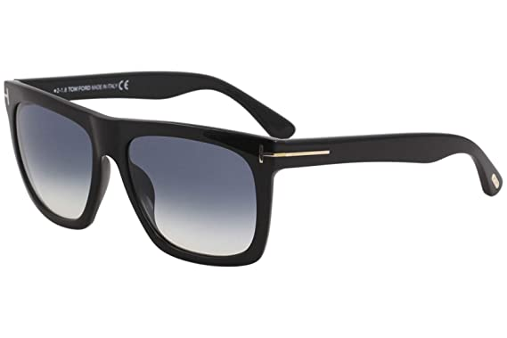 5d866f3936 Image Unavailable. Image not available for. Color  Tom Ford FT0513 01W  Shiny Black Morgan Square Sunglasses Lens Category 2 Size 5