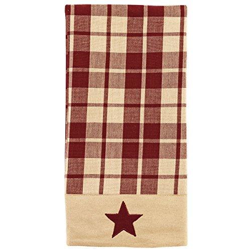 Burgundy Farmhouse Star Towel