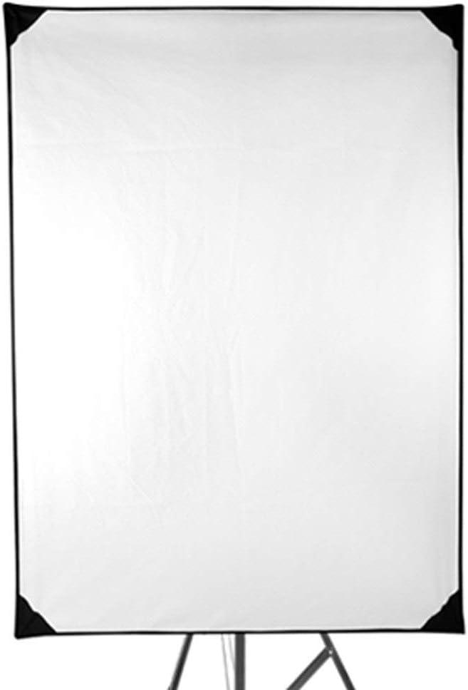 KMCMYBANG Photographic Reflector 70x100CM Frame Diffuser and Reflector Scrim Kit Lighting Soft Cloth Sun Scrim Flat Panel Metal Frame with Adjustment Handle 4 Fabrics Photographic Light Board