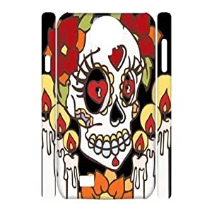 diy 3D Case Cover for SamSung Galaxy S4 I9500 - Sugar Skull Day of the Dead Hard case 3