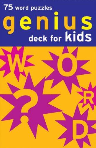 Genius Deck Word Puzzles - Genius Deck For Kids 75 Word Puzzles Genius Deck For Kids