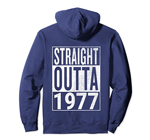 Unisex Straight Outta 1977 Great 41st Birthday Pullover Hoodie Medium Navy