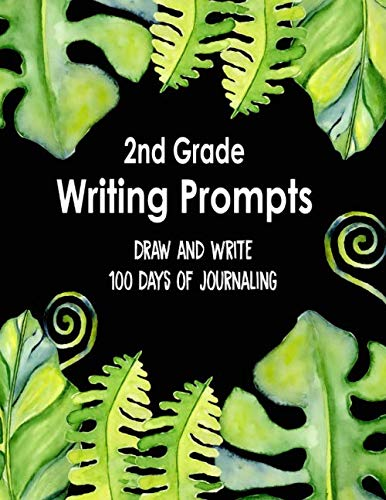 2nd Grade Writing Prompts, Draw and Write, 100 Days of Journaling: Topics to Write About, Jungle Classroom Theme (Jungle Scrapbooking)