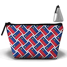 Liechtenstein Flag Weave Pencil Case Stationery Bag Cosmetic Bag Cosmetic Bag Storage Bag