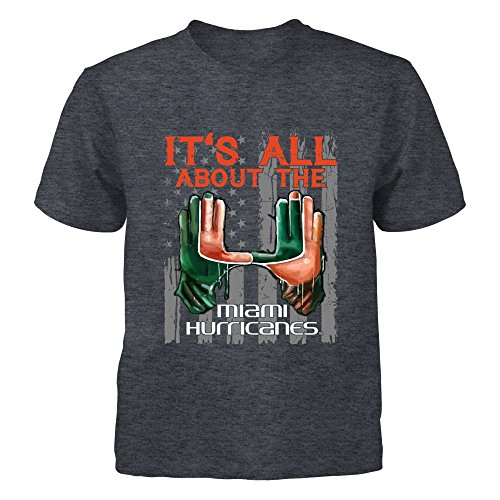 FanPrint Miami Hurricanes - It's All About The U - Gildan Youth T-Shirt - Officially Licensed Fashion Sports - About Youth T-shirt
