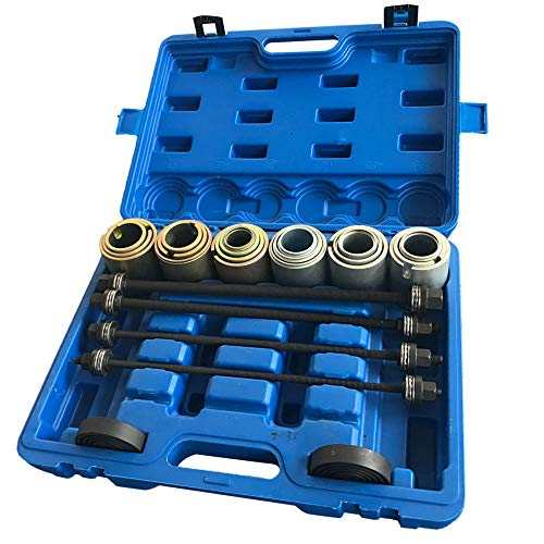 TRIL GEAR 27pcs Universal Press and Pull Sleeve Kit Manual Bushing Installation Removal Set Bearing Seal Bush Remove Install Insertion Sleeve Tool w/Case