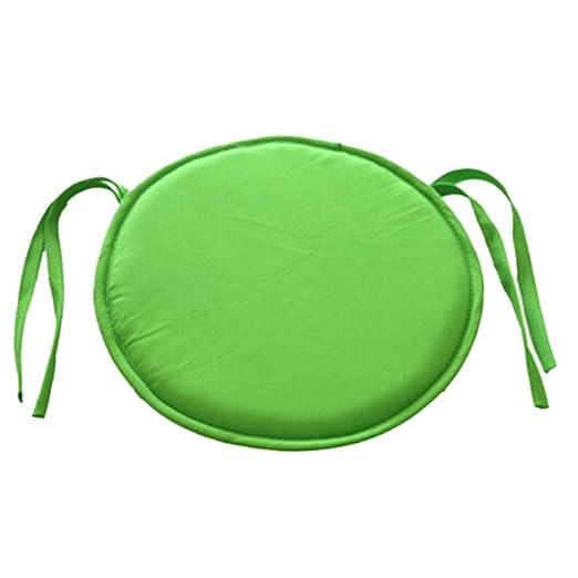 Cojín redondo acolchado para silla, de EMVANV, para uso exterior e interior, para la casa o la oficina, Verde, Tamaño libre