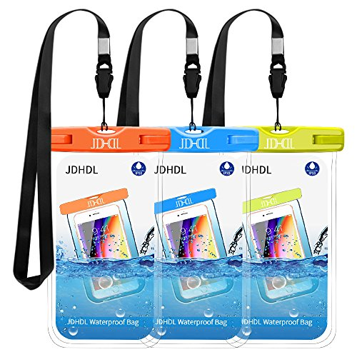 Universal Waterproof Case, JDHDL IPX8 Waterproof Phone Pouch Cellphone Dry Bag for iPhone X/8/ 8plus/7/7plus/6s/6/6s Plus Galaxy S9/S8 Google Pixel 2 HTC LG Moto up to 7.0