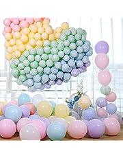 مجموعة من 100 قطعة من بالونات فاتحة اللون من اللاتكس من سوفام بقطر 10 انش وقوس بالوان متنوعة للاحتفالات ومناسبات الزفاف والتخرج واعياد الميلاد للاطفال والكريسماس وحفلات استحمام الاطفال