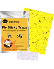 CBROSEY Fly Traps, Yellow Sticky Fly Traps,Fly Catcher, Fly Paper Stickers, Sticky Fly Catchers,Sticky Fly Traps, 20 Pack Dual-Sided Sticky Traps for Indoor and Outdoor Flying Insect