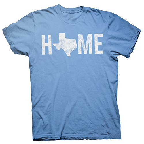 - Texas is Home - Proud Texan Lone Star State Distressed T-Shirt - Carolina-Md