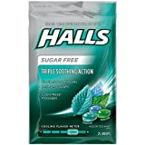 Halls Mentho-Lyptus Drops Sugar Free Assorted Mint 25 Each (Pack of 6)