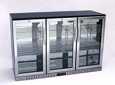 """54"""" Wide 3-door Stainless Steel Back Bar Beverage Cooler"""
