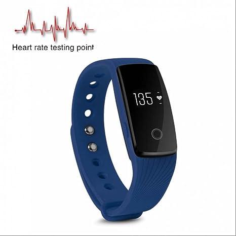 Reloj deportivo de frecuencia cardíaca,Remoto de Cámara,podómetro Bluetooth relojes inteligentes,contador