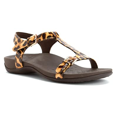 1bbd97ba4c2c Vionic with Orthaheel Womens Adriane T Strap Sandal Shoes