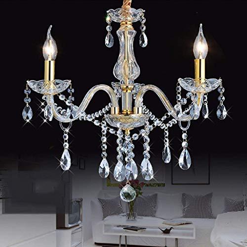 Oliwia Chandelier - Elegant Golden Candle Ceiling Light - Crystal Chandelier - Lighting - Indoor Lighting - Lighting,3 Lights/6065cm (Tile Pendant Light 3)