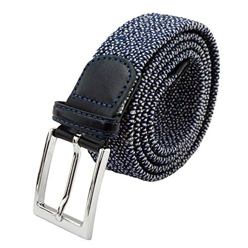 JASGOOD Elastic Mens Belts For Men Woven Stretch Casual Rubber String Belts Fabric