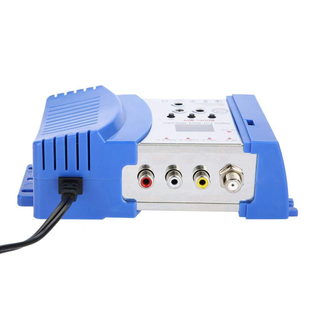 Video-Ausgangspegel EU Bewinner Digitaler HF-Modulator Universal Compact Home Modulator Digitaler HF-Modulator Audio-Video-TV-Wandler Signalwandler VHF//UHF-Signalverst/ärker Einstellbarer Audio-