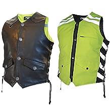 Missing Link Men'S D.O.C. Reversible Safety Vest - Black/Hi-Viz Green Large - G2Rvmgl 261-1100L